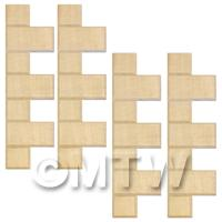 4 x Dolls House Miniature Birch Exernal Quoin Strips
