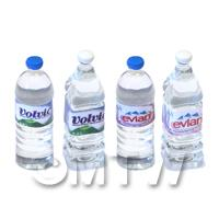 Set of 4 Dolls House Miniature Resin Water Bottles