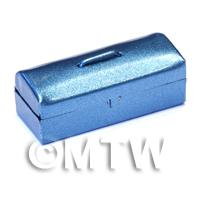 Dolls House Miniature Blue Metallic Opening Toolbox
