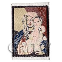 Dolls House 17th Century Tapestry Woman And Child (17MINI02)
