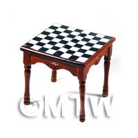 Dolls House Miniature Chess Table