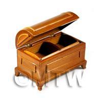 Dolls House Miniature Dark Oak Box