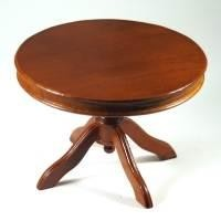 Dolls House Miniature Round Mahogany Table