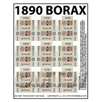 Dolls House Miniature Packaging Sheet of 9 Borax Soap Boxes