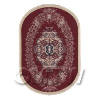 Dolls House Small Oval 18th Century Carpet / Rug (18SO5)