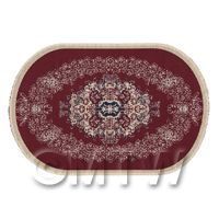 Dolls House Medium Oval 18th Century Carpet / Rug (18LO01)
