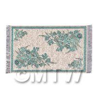 Dolls House Small Rectangular 18th Century Carpet / Rug (18SR01)