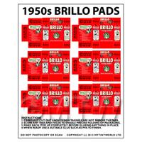 Dolls House Miniature sheet of 6 Brillo Soap Pads Boxes