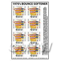 Dolls House Miniature Packaging Sheet of 8 Bounce Boxes