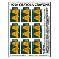 Dolls House Miniature sheet of 9 Crayola Crayon Boxes