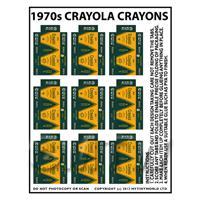 Dolls House Miniature sheet of 9 Crayola Crayon Boxes