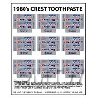 Dolls House Miniature sheet of 9 Crest Toothpaste Boxes