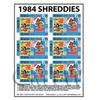 Dolls House Miniature Packaging Sheet of 6 Shreddies Cereal Boxes