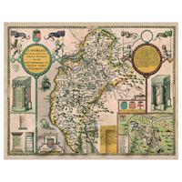 Dolls House Miniature John Speed Cumberland Map