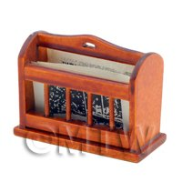Dolls House Miniature Wooden Newspaper Rack