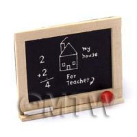 Dolls House Miniature - Dolls House Miniature Childrens Wooden Chalkboard