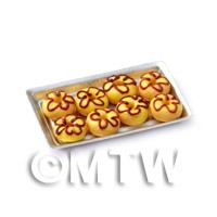 Dolls House Miniature Yellow Donuts On A Tray