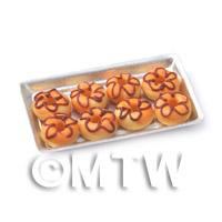 Dolls House Miniature Orange Donuts On A Tray