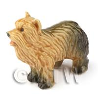 Dolls House Miniature Ceramic Long Haired Terrier Dog