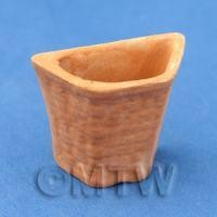 Dolls House Miniature Half Hexagon Terracotta Flower Pot