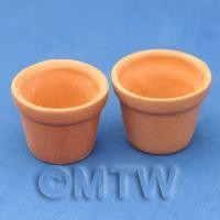 Dolls House Miniature Pair of Tree Planters Style A