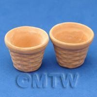 Dolls House Miniature Pair of Tree Planters Style B