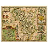 Dolls House Miniature John Speed Aged Darbieshire Map
