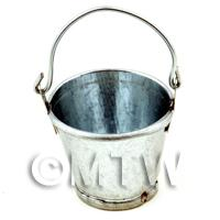 Dolls House Miniature Metal Bucket With Movable Handle