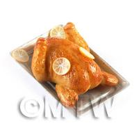 Dolls House Miniature Cooked Duck with Orange Slices