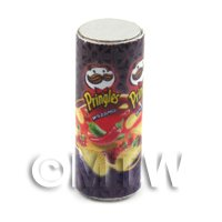 Dolls House Miniature Tube Of Pringles Sweet Chilli Flavour