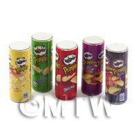 Dolls House Miniature Tubes Of Assorted Pringles