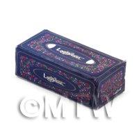 Dolls House Miniature Blue Tissue Box
