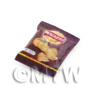 Dolls House Miniature Packet Of Walkers Steak And Onion Crisps