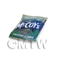 Dolls House Miniature McCoys Cheddar And Onion Crisps