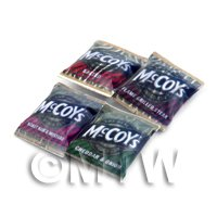 Dolls House Miniature  Packets Of Mixed Flavour McCoys Crisps
