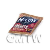 Dolls House Miniature McCoys Jackets Melted Cheese and Bacon  Crisps