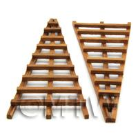 2 Dolls House Miniature Hand Made Dark Wood Hardwood Trellis