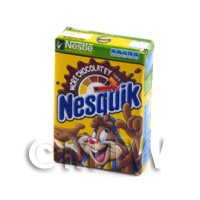 Dolls House Miniature Nestle Nesquik Chocolate Cereal