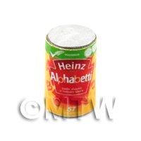 Dolls House Miniature  Can of Heinz Alphabetti.