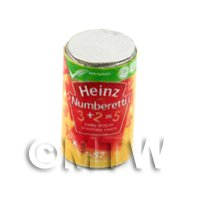 Dolls House Miniature can of Heinz Numberetti.