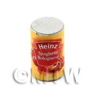 Dolls House miniature  Can of Heinz Spaghetti Bolognese