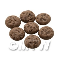 Dolls House Miniature Double Chocolate Chip Cookie