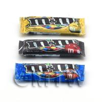 Dolls House Miniature - 3 x Handmade Dolls House Miniature M and Ms Packets