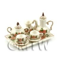 Dolls House Miniature Old Style 6 Piece Ceramic Coffee Set