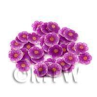 50 Fimo Indigo Flower Nail Art Cane Slices (NS51)