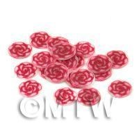 1/12th scale 50 Red Rose Nail Art  Cane Slices (NS70)