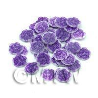 1/12th scale 50 Purple Rose Nail Art  Cane Slices (NS71)