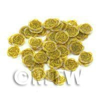 1/12th scale 50 Yellow Rose Nail Art  Cane Nail Art Slices (NS75)