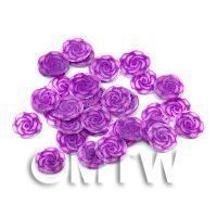 1/12th scale 50 Violet Rose Nail Art  Cane Nail Art Slices (NS77)