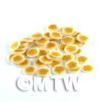 50 Dark Yellow Rose Nail Art  Cane Nail Slices (NS78)